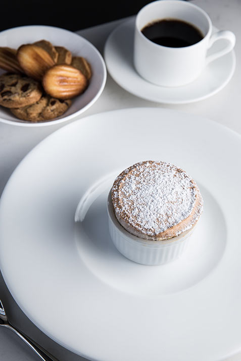 desert with coffee