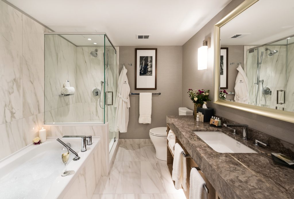 Beautiful Marble Bathrooms Refresh Diamond-level Guest Rooms