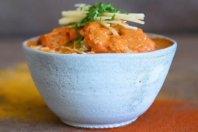 Curry dish in stone bowl